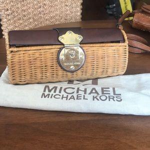 Michael Kors Wicker Clutch